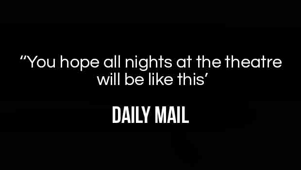 You hope all nights at the theatre will be like this' - The quote from the Daily Mail about the Lion King in London at the Lyceum